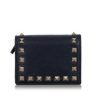 ヴァレンティノ(VALENTINO)のヴァレンティノ 二つ折り財布 レディース 美品(財布)