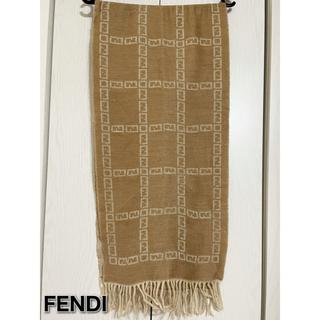 フェンディ(FENDI)のFENDI ロゴマフラー ズッカ柄 ウール100% フェンディ(マフラー/ショール)