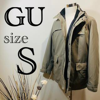 ジーユー(GU)の【GUダウン】ベージュダウン Sサイズ(ダウンジャケット)