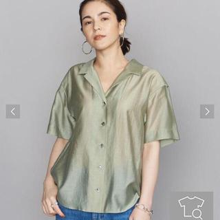 ビューティアンドユースユナイテッドアローズ(BEAUTY&YOUTH UNITED ARROWS)の新品 ビューティー&ユース オープンカラー5分袖シャツ(シャツ/ブラウス(半袖/袖なし))