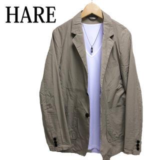 ハレ(HARE)のHARE テーラードジャケット ベージュ ワークジャケット カジュアルジャケット(テーラードジャケット)