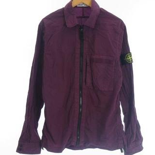 ストーンアイランド(STONE ISLAND)のストーンアイランド ナイロン ジャケット ジップアップ 刺繍 ロゴ 紫 S(ブルゾン)