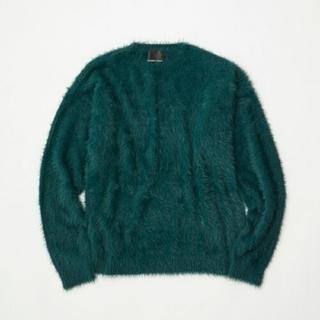 ナンバーナイン(NUMBER (N)INE)のナンバーナイン ファー フェザーヤーン ニット セーター 緑 グリーン レア(ニット/セーター)