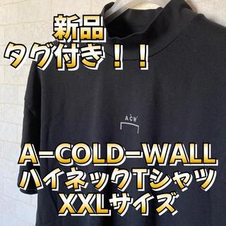 ワイスリー(Y-3)の新品 A-COLD-WALL ハイネック ロゴTシャツ XXL(Tシャツ/カットソー(半袖/袖なし))