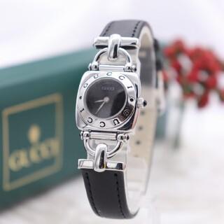 グッチ(Gucci)の正規品【新品電池】GUCCI 6300L/ホースビット 動作品 ブラック(腕時計)