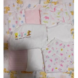 コンビミニ(Combi mini)の短肌着 50〜60 女の子 新生児 まとめ売り(肌着/下着)