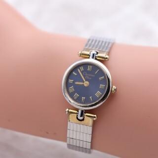 クリスチャンディオール(Christian Dior)の正規品【新品電池】ChristianDior/3025 ネイビー 動作良好(腕時計)