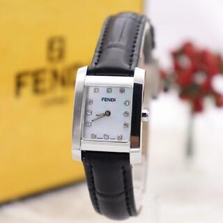 フェンディ(FENDI)の正規品【新品電池】FENDI 7000L/ダイヤ12P ホワイトシェル 動作良好(腕時計)