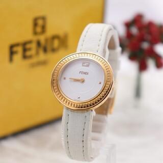 フェンディ(FENDI)の付属品完備【新品電池】FENDI 35000S/マイウェイ 動作良好 ゴールド(腕時計)