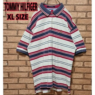 TOMMY HILFIGER 90s ワンポイント 刺繍 ロゴ ポロシャツ