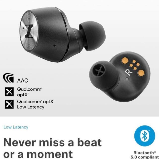 SENNHEISER(ゼンハイザー)の【初代】SENNHEISER MOMENTUM True Wireless スマホ/家電/カメラのオーディオ機器(ヘッドフォン/イヤフォン)の商品写真