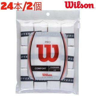 wilson - 【新品】Wilson ウイルソン プロオーバーグリップ ホワイト 12個入×2個