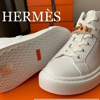 エルメス(Hermes)の【SALE】エルメス[国内完売]ケリー ハイカット スニーカー37デイドリーム(スニーカー)