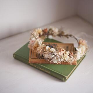 【限定1個】アンティーク風 ドライフラワー花冠(ドライフラワー)