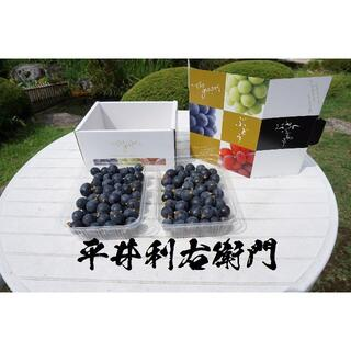 平井利右衛門の黒ぶどう(粒1.5Kg, ブラックビート)(フルーツ)
