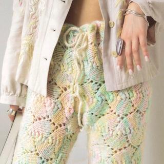 ロキエ(Lochie)の70s pelican vintage hand knit  pants(カジュアルパンツ)