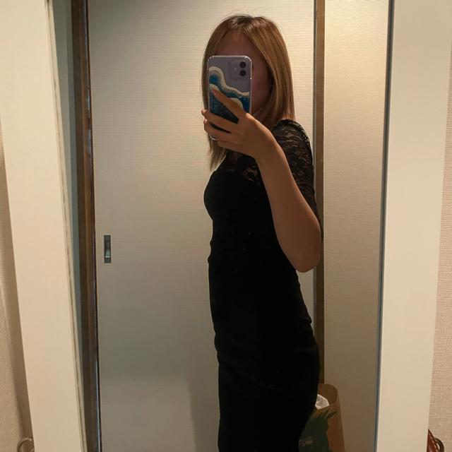 レース black 黒 ドレス キャバ Sサイズ ミニドレス  レディースのフォーマル/ドレス(ミニドレス)の商品写真