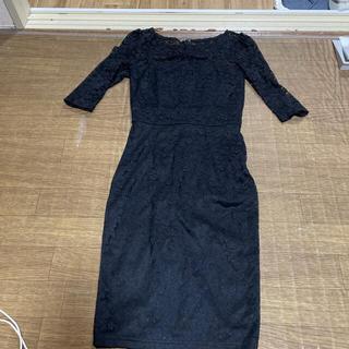 レース black 黒 ドレス キャバ Sサイズ ミニドレス (ミニドレス)