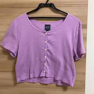 ギャップ(GAP)のGAP クロップド丈Tシャツ(Tシャツ(半袖/袖なし))