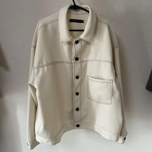 RAGEBLUE(レイジブルー)のレイジブルー ステッチショートブルゾン オフホワイト M メンズのジャケット/アウター(ブルゾン)の商品写真