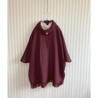 古着 ヴィンテージ   レトロ ポンチョ コート 羽織り ビンテージ(ポンチョ)