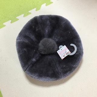 シマムラ(しまむら)の新品 ベレー帽 グレー(ハンチング/ベレー帽)