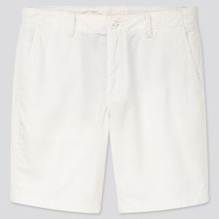 UNIQLO - チノショートパンツ ホワイト XS 丈21.5〜25