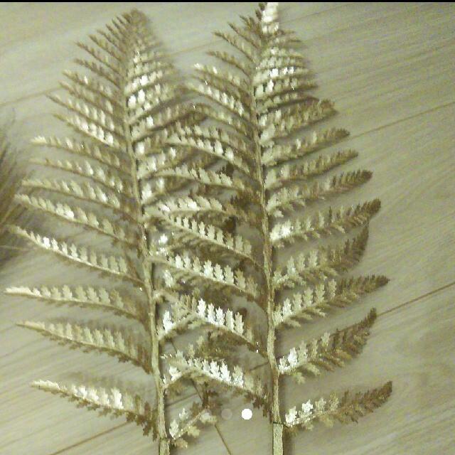 ドライフラワー セット ゴールド 造花 ハンドメイドのフラワー/ガーデン(ドライフラワー)の商品写真