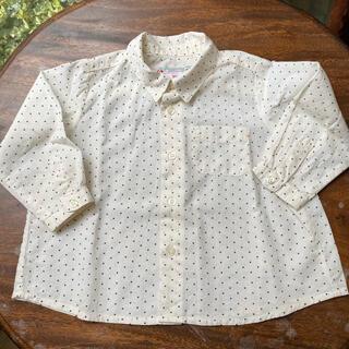 ボンポワン(Bonpoint)の美品 Bonpoint ボンポワン 長袖 シャツ ブラウス 12(シャツ/カットソー)