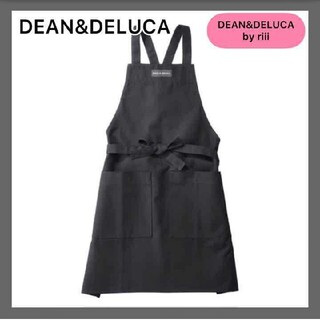 DEAN&DELUCA ディーンアンドデルーカ フルエプロン ブラック