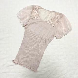 スナイデル(snidel)のsnidel パフスリーブ レーストップス(Tシャツ(半袖/袖なし))