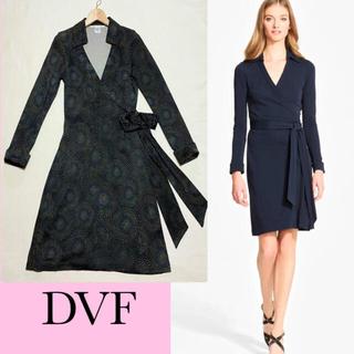 ダイアンフォンファステンバーグ(DIANE von FURSTENBERG)のDIANE von FURSTENBERG シルク100% ジャージー ドレス(ひざ丈ワンピース)