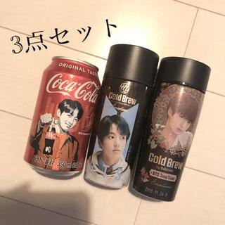 ボウダンショウネンダン(防弾少年団(BTS))のBTS・グク・ジョングク・3点セット・コーヒー・コーラ・かん・韓国・海外・(K-POP/アジア)