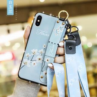 ストラップiPhone12 pro mini max ケース(iPhoneケース)