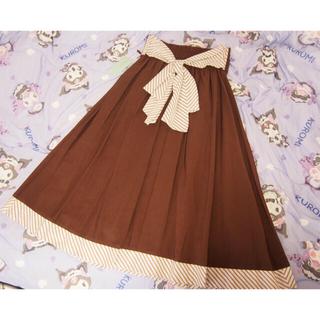 メゾンドフルール(Maison de FLEUR)の伝統を守るフレアスカート ブラウン Mサイズとブラウス2点セット(ロングスカート)
