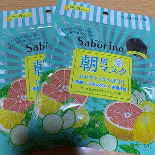 サボリーノ 朝用マスク ミンティーグレープフルーツ の香り 5枚入り(パック/フェイスマスク)