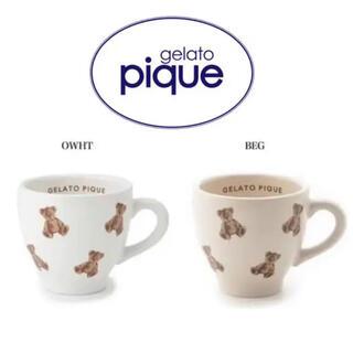 ジェラートピケ(gelato pique)のジェラートピケ ベアモチーフ マグカップ(グラス/カップ)
