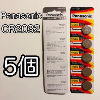 パナソニック(Panasonic)のPanasonic CR2032 5個 パナソニック ボタン電池 コイン電池(オフィス用品一般)