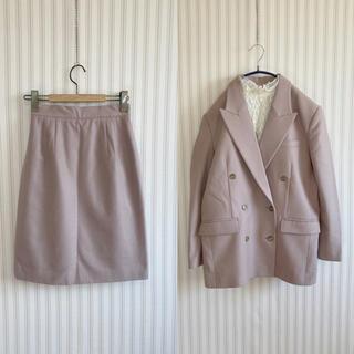 古着 ヴィンテージ   くすみ パープル スカート セットアップ ビンテージ(セット/コーデ)