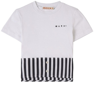 マルニ(Marni)のMARNI マルニ ストライプ ロゴ Tシャツ(Tシャツ(半袖/袖なし))