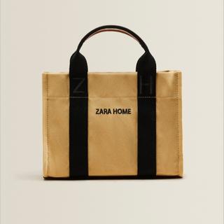 ザラホーム(ZARA HOME)のザラホーム トートバッグ ベージュ 新品未使用(トートバッグ)