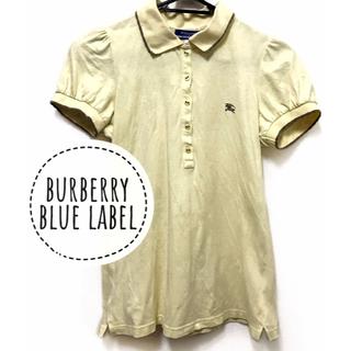 バーバリーブルーレーベル(BURBERRY BLUE LABEL)のBURBERRY BLUE LABEL  パフスリーブ 半袖 ポロシャツ(ポロシャツ)