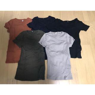 ユニクロ(UNIQLO)の5着組 UNIQLO Tシャツ Sサイズ(Tシャツ(半袖/袖なし))