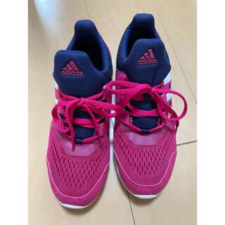 アディダス(adidas)のadidas 24cm ランニングシューズ ピンク(シューズ)