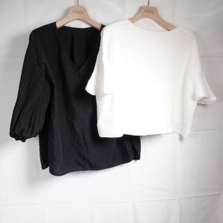 ノーブル(Noble)のNOBLE/BALLSEY カットソー/ニット レディース ブラック/ホワイト(カットソー(半袖/袖なし))