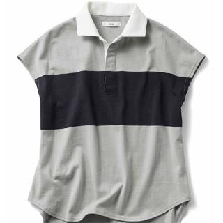 フェリシモ(FELISSIMO)の大きいサイズ IEDIT 小森美穂子さんコラボ コットン素材の大人ラガーシャツ(カットソー(半袖/袖なし))