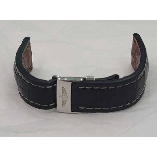 BREITLING(ブライトリング)のブライトリング 純正 クロコレザー ベルト&純正Dバックル 22-20 ブラック メンズの時計(レザーベルト)の商品写真