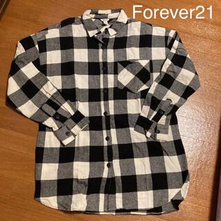 フォーエバートゥエンティーワン(FOREVER 21)のForever21 チェックシャツ ネルシャツ Lサイズ(シャツ)