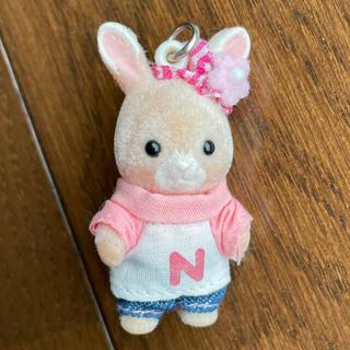 エポック(EPOCH)の【シルバニアファミリー】ピンクウサギの赤ちゃん キーホルダー(ぬいぐるみ/人形)