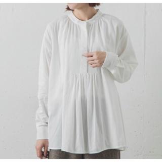 サニーレーベル(Sonny Label)のsonny label フレアヘムギャザーシャツ ホワイト(シャツ/ブラウス(長袖/七分))